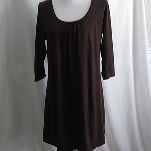 2/$13 Old Navy Chocolate Brown Cotton Tunic Dress